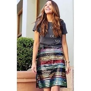 NWT ANTHROPOLOGIE Showstopper Sequin Soiree Skirt